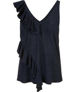 Drome | Ruffled Tank Top Womens Size Small Suede