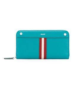 Bally | Stripe Zip Around Wallet Womens Leather