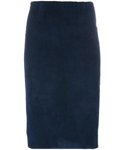 Stouls | Gilda Pencil Skirt Womens Size Small Cotton/Suede/Spandex/Elastane/Lyocell