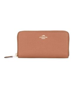 Coach | Logo Plaque Wallet Womens Leather
