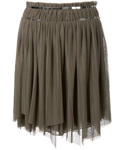 Jay Ahr | Silver-Tone Detail Pleated Skirt