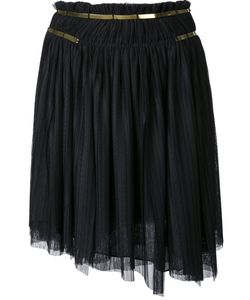 Jay Ahr | Gold-Tone Detail Pleated Skirt