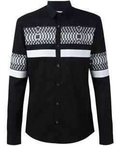 Les Hommes Urban   Digital Stripe Print Shirt