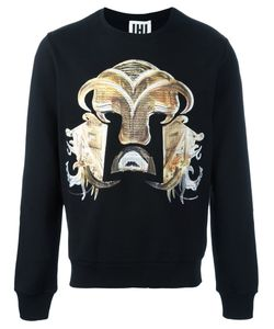 Les Hommes Urban   Warrior Print Sweatshirt