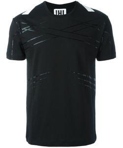 Les Hommes Urban   Stripes Detail T-Shirt