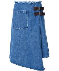 Mihara Yasuhiro   Denim Wrap Skirt