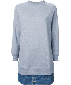 Mihara Yasuhiro   Denim Jacket Hem Sweat Pullover