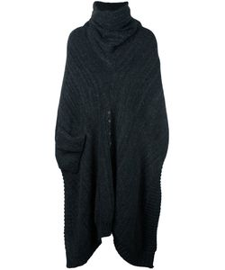 A New Cross | Oversized Flannel Neck Poncho