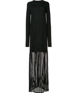 Sally Lapointe | Sheer Detail Longsleeved Dress