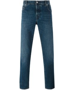 Borrelli | Stonewashed Straight-Fit Jeans