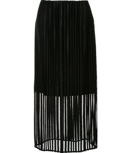 Sally Lapointe | Mid-Waisted Sheer Skirt