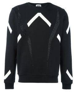 Les Hommes Urban   Graphic Applique Sweatshirt