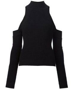 Christian Siriano | Cold-Shoulder Knitted Top