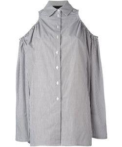 Victoria/Tomas | Striped Off Shoulder Shirt