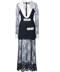 Alessandra Rich | Plunge Lace Dress