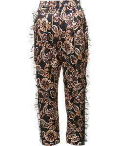 Rodarte | Floral Print Tulle Detail Tapered Trousers