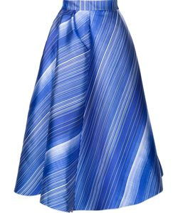 Vika Gazinskaya | Striped A-Line Skirt