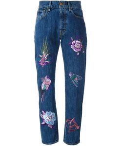 Aries | Embroidered High-Waisted Jeans
