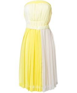 Jenny Fax | Pleated Strapless Colour Block Dress