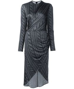 Christian Siriano | Cable Knit Print Wrap Dress