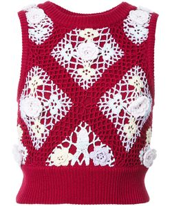 Mikio Sakabe | Floral Embroide Knitted Top