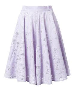 Mikio Sakabe | Floral Embroidered Pleated Skirt