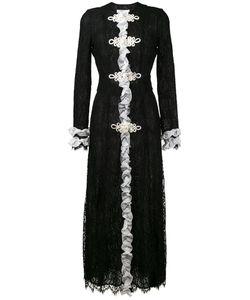 Alessandra Rich | Ruffled Lace Maxi Dress