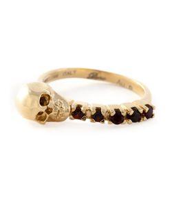 Puro Iosselliani | Garnet Skull Ring