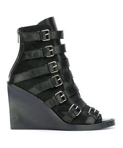 Ann Demeulemeester Blanche   Buckled Straps Boots Womens Size 38 Leather/Calf