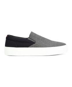 Wooster + Lardini | Panelled Slip-On Sneakers Mens Size 8 Wool/Rubber