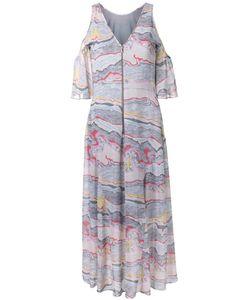 GINGER & SMART | Red Smart Alaskan Rivers Dress Womens Size 8 Polyester/Silk
