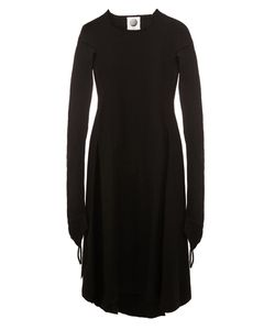 Aganovich | Raw Edge Flared Dress Womens Size 40 Polyamide/Cashmere/Wool
