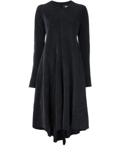 Yang Li | Draped Midi Dress Womens Size 40 Cotton/Linen/Flax/Acetate/Pbt Elite