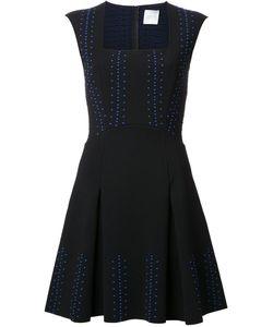 Ingie Paris   Embroidered Flared Dress Womens Size Medium Polyethylene/Viscose