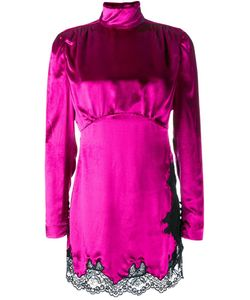 Alessandra Rich | Funnel Neck Mini Dress Womens Size 40 Rayon/Silk/Polyamide