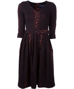 Samantha Sung | Jacquard Flared Dress Womens Size Xs Wool/Silk
