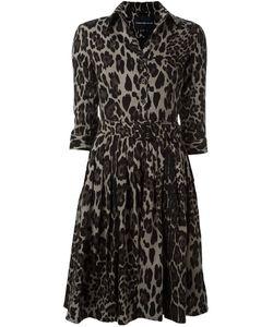 Samantha Sung | Animal Print Shirt Dress Womens Size Small Wool/Silk
