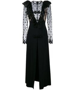Alessandra Rich | Lace Panel Evening Dress Womens Size 38 Viscose/Polyamide/Silk