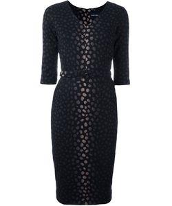 Samantha Sung | Jacquard Fitted Dress Womens Size Xs Wool/Silk