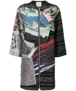 Mihara Yasuhiro   Miharayasuhiro Patched Dress Womens Size 40 Cotton/Polyester/Wool