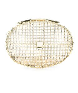 Anndra Neen   Oval Cage Pearl Clutch Adult Unisex Grey