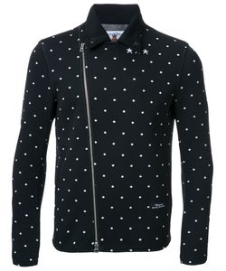 Education From Youngmachines | Dotted Back Quote Biker Jacket Mens Size 1