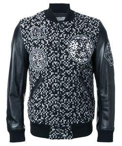 Anrealage | Noise Bomber Jacket Mens Size 46 Calf Leather/Nylon/Wool