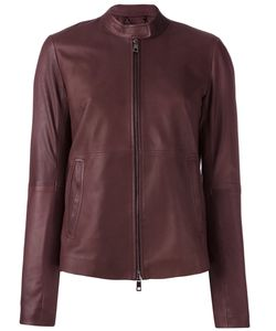 Desa Collection | Zip Up Cropped Jacket Womens Size 38 Leather/Acetate/Viscose