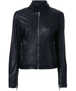 Strateas Carlucci | Slim Fit Biker Jacket Womens Size Small Leather