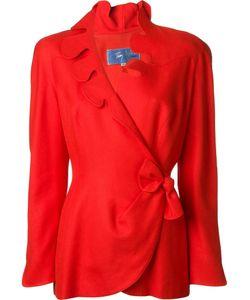 Thierry Mugler Vintage | Scalloped Wrap Jacket Womens Size 40