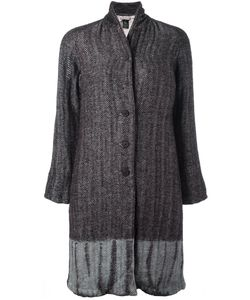 Suzusan | Tie-Dye Herringbone Coat Womens Size Medium Cotton/Linen/Flax/Wool