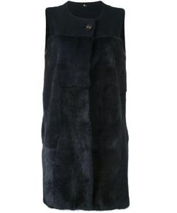 Numerootto | Sleeveless Jacket Womens Size 42 Wool/Cashmere/Mink Fur