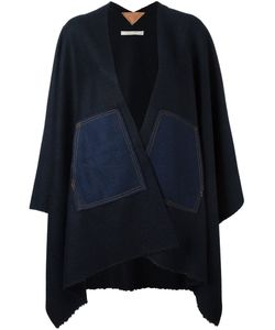 Ermanno Gallamini | Denim Patch Cape Womens Nylon/Cashmere/Virgin Wool