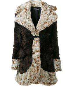 Alessandra Rich | Faux Fur Coat Womens Size 40 Acrylic/Polyester/Viscose/Cupro